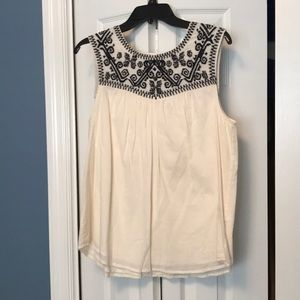 Lucky Brand embroidered top size small